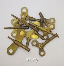 Lot Of 10 Antique Seth Thomas Mantel Shelf Wall Clock Winding Keys (gw36)
