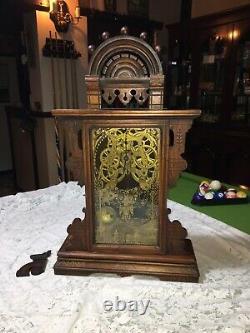 Mantle ClockA Decorative Large Antique Seth Thomas Gingerbread Clock C1875 USA