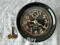 Mark I Boat Clock US Navy WWII 4-1/2 Seth Thomas USED. READ DESCRIPTION