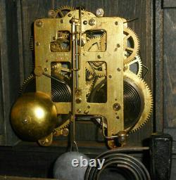 Nice Antique Seth Thomas Adamantine Key Wind Chime/Bong/Bell 8-Day Mantle Clock