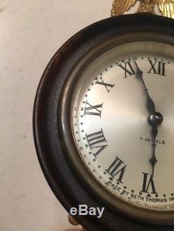 Nice Antique Seth Thomas Mini Banjo Clock Nautical Tablet