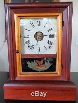 Old 1800s Antique Seth Thomas Mantle Shelf Clock 8 Day