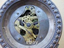 Old Seth Thomas Long Alarm Mantel Clock, Tall Version, 30 Hour, Running Well