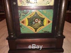 Original Antique Seth Thomas Half Column Clock Weight Driven Running
