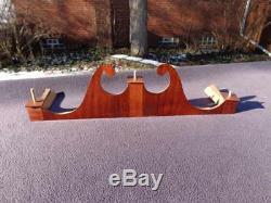 Pillar Scroll Mahogany Veneer Clock Case Top Terry Seth Thomas Whiting Downs NOS