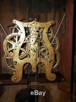 Pretty Decent Looking Original 8 Day Seth Thomas Brass Works Weight Clock