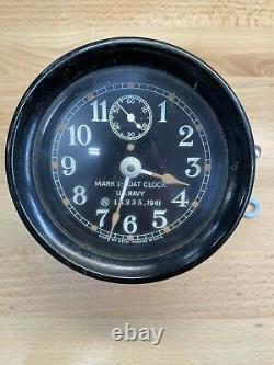 RARE Vintage Mark I US Navy 1941 Ship's Boat Clock Seth Thomas WWII With Key