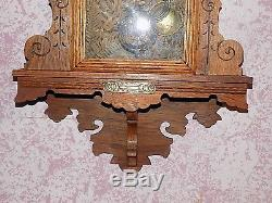 RARE Vintage SETH THOMAS Pendulum Wall Clock With Alarm & Floral Filigree Design