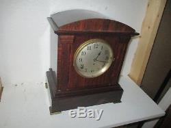 RED SETH THOMAS ADAMANTINE SONORA CHIME CLOCK WithBELLS IN NICE SHAPE