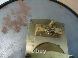 Rare 1943 Seth Thomas WWII Air Force Bakelite Porthole Radio Room Clock #5164