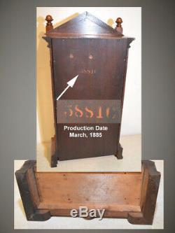 Rare And Restored Seth Thomas Albany 1885 City Series Antique Cabinet Clock