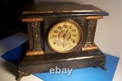 Rare Antique 1894 Seth Thomas Adamantine #102 Mantel Clock, L-f60