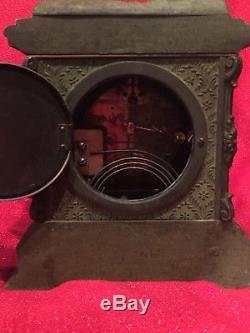 Rare Antique Large Seth Thomas Whistling Boy Mantle Statue Clock Original