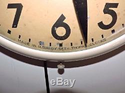 Rare Antique Original Coca Cola advertising Clock Sign Seth Thomas Nice
