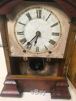 Rare Antique Seth Thomas Arch Parlor Shelf Mantle Clock Early Plymouth Movement