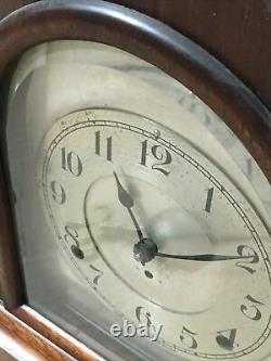 Rare Antique Seth Thomas Cathedral Arch Mantle Clock With Silvered Dial