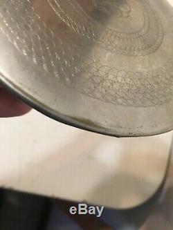 Rare Antique Seth Thomas Or Self Winding Clock Damascene Pendulum Bob 2 Pounds