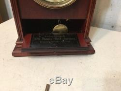 Rare Antique Seth Thomas Parlor Clock City Series Drop Front Drawer Unusual
