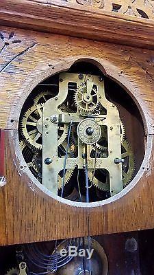 Rare Antique Seth Thomas Tampa City Series Mantel Shelf