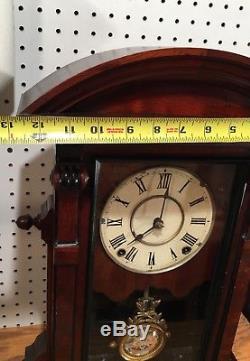 Rare Large Seth Thomas St. Paul City Series Lyre Mantle Parlor Shelf Clock