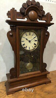 Rare Seth Thomas City Series Princeton Parlor Gingerbread Mantel Clock