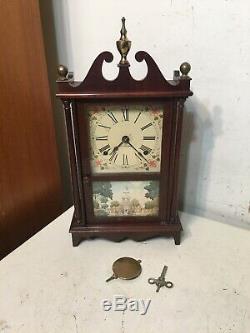 Rare Seth Thomas Miniature Pillar & Scroll Mantle Clock C. 1920 Concord Model