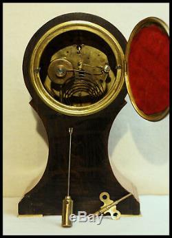 Rare Seth Thomas Parma Baloon clock Circa 1913 8-day Beautifull Inlaid Mahogany