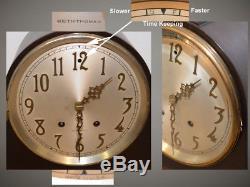 Rare Seth Thomas Restored Frontenac 1924 Antique Clock In Ebonized Mahogany