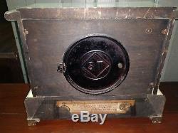 Rare Seth Thomas White Adamantine Mantel Clock Working