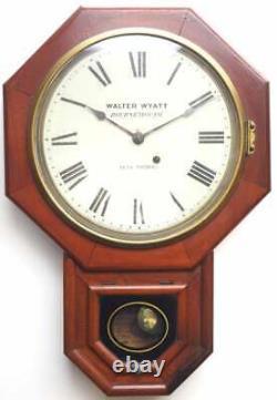 Rare Victorian American drop dial Wall Clock 8 Day Movement Seth Thomas 1890