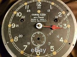 Rare WWII Seth Thomas Course Zig Zag sub avoidance U. S. Navy Ships Clock- 6 in