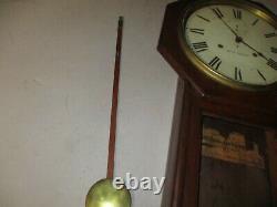 Real Nice Seth Thomas'world' Wall Clock Great Shape