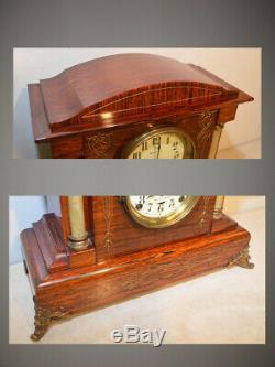 Restored & Quite Rare Seth Thomas 4 Bell Sonora 4 1909 Antique Chime Clock