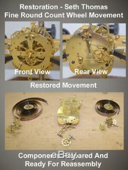 Restored Rare Seth Thomas Cordova 1899 Antique City Series Cabinet Clock