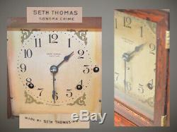 Restored Seth Thomas Antique First Issue 4 Bell Sonora Chime Clock #00 1911