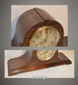 Restored Seth Thomas Chime 98 1928 Antique Clock In Mahogany With Inlays
