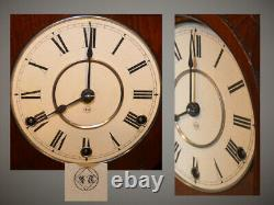 Restored Seth Thomas Rare&grand Hecla 1885 Mahogany Antique Cabinet Clock
