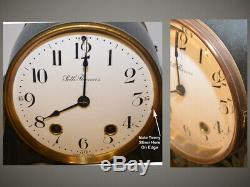 Restored Seth Thomas Tampa 1907 Antique Bronze & Verde Mantle & Shelf Clock