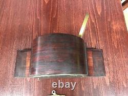 SETH THOMAS ANTIQUE MANTLE CLOCK Mahogany Art-deco WORKS PERFECTLY GREAT SHAPE