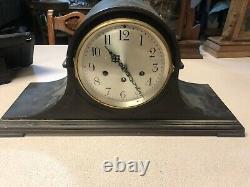 SETH THOMAS CHIME NO. 74-1920s ANTIQUE CABINET CLOCK IN Black MAHOGANY