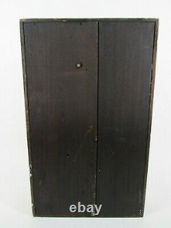SETH THOMAS OGEE CLOCK antique mantel mantle walnut weights key scene RARE ALARM
