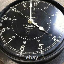 SETH THOMAS U. S. NAVY 59479-E US Army Warship Clock Rare Vintege Free Shipping