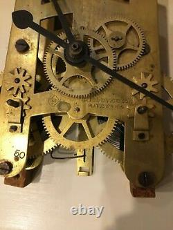SETH THOMAS for BAIRD CLOCK CO. DOUBLE WIND 86 TYPE MOVEMENT ONLY TICKS