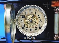 Seth THomas Adamantine Clock Very shiny works good original