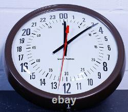 Seth Thomas 14 667 MANAGER 24 hour WALL CLOCK mid century EXCELLENT working