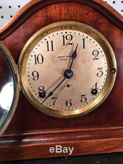 Seth Thomas 4 Bell Sonora Chime Model 55 Mantle Table Clock