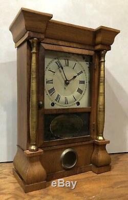 Seth Thomas 8 Day Cottage Pillar Mantel Shelf Table Clock