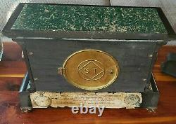Seth Thomas Adamantine Mantel Clock Chimes