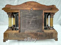 Seth Thomas Adamantine Mantle Clock, Larkin Model 1900s Original Bob No Key
