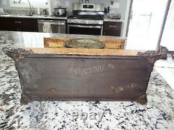 Seth Thomas Adamantine Rare Potmos Mantel Clock 8 day Chime Antique RUNS